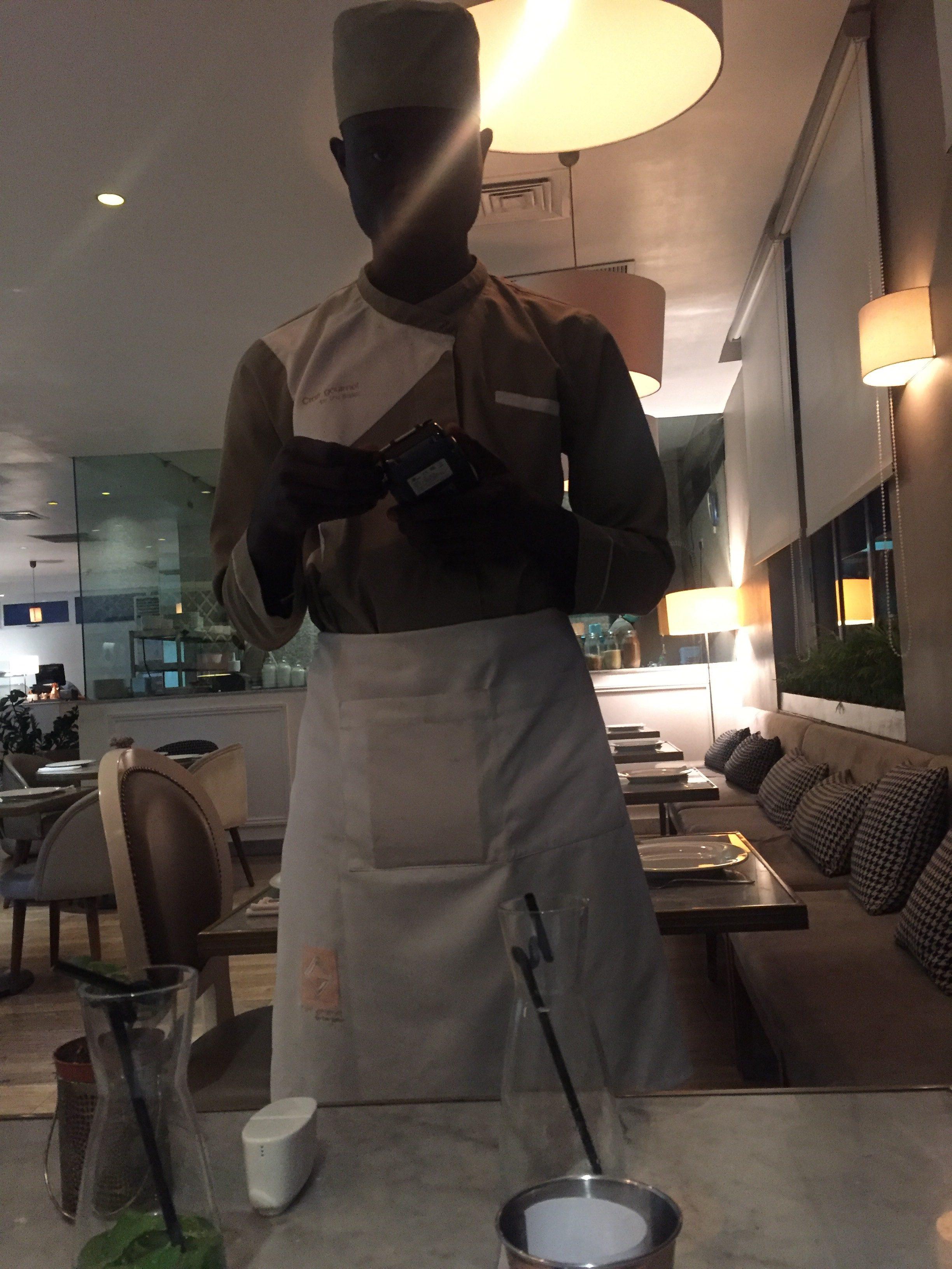 Our Craft Gourmet waiter-Justus - eyinimofe.com