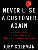 how to never loose a customer again book image